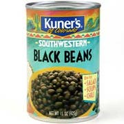 Kuners Black Beans, 15 ounce -- 12 per case