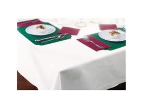 Hoffmaster 854-W Linen-Like White Dinner Size Table cover, 50 x 54 inch -- 48 per case.