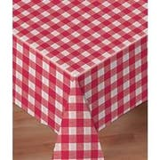 Hoffmaster 8108-DC11 Linen-Like Red Check Printed Table cover, Banquet Size 50 x 108 inch -- 24 per case.