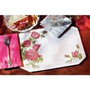 Hoffmaster 901-FD218 Fashion-Casual Roses Floral Borders 1 Printed Placemat 9.625 x 13.5 inch, Octagon Die Cut -- 1000 per case.