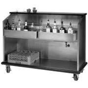 Advance Tabco Ambassador Portable Bar - Open Front with Bar King Speedrails, 5 feet -- 1 each.