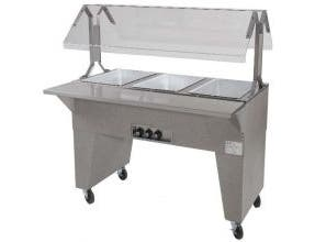 Advance Tabco Triumph NSF Hot Food Electric Buffet Table with Solid Base - 3 Well, 240 Volt -- 1 each.