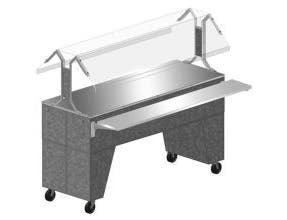 Advance Tabco Triumph NSF Hot Food Solid Top Buffet Table with Solid Base, 47.13 x 32.63 x 54 inch - 3 Pan -- 1 each.