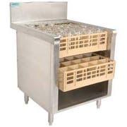 Advance Tabco Prestige 24 inch Series Open Glass Rack Storage Cabinet -- 1 each.