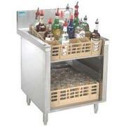 Advance Tabco Prestige 24 inch Series Slanted Glass Rack Storage Cabinet -- 1 each.