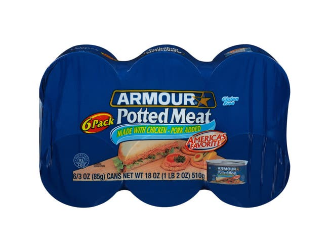Pinnacle Foods Armour Star Potted Meat, 3 Ounce -- 48 per case.