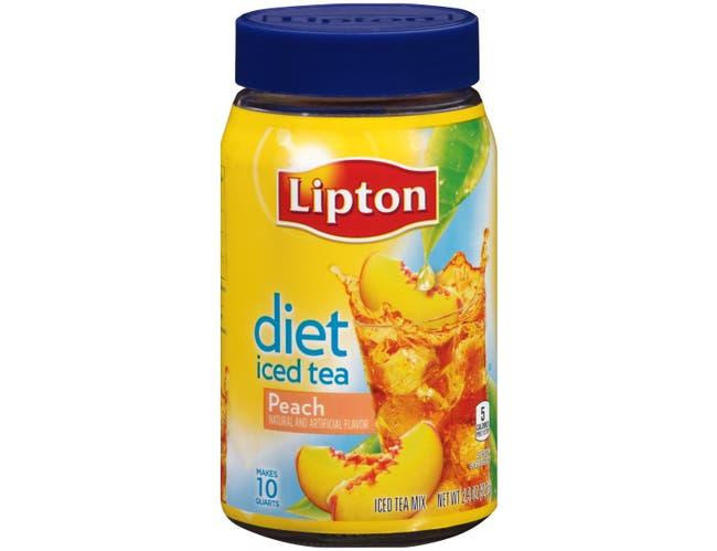 Lipton Diet Peach Iced Tea Mix, 2.9 Ounce -- 4 per case.