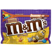 M and Ms Dark Chocolate Peanut Candy, 10.1 Ounce -- 8 per case.