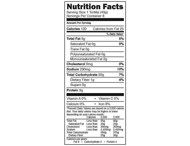Maria and Ricardo's Organic 8 Inch White Flour Tortilla, 8 count per pack -- 6 per case.