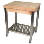 John Boos Maple Block Cream Finish Cucina Technica Cart with Drawer, 30 x 24 x 2 1/4 inch -- 1 each.