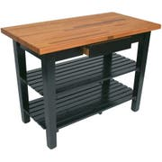 John Boos Spicy Latte Base Cream Finish Red Oak Finger Jointed Top C Table, 48 x 30 x 1.5 inch -- 1 each.