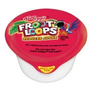 Kelloggs Froot Loops Reduced Sugar Whole Grain Cereal, 1 Ounce Bowl -- 96 per case.