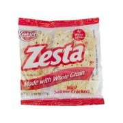 Keebler Zesta Whole Grain Mini Saltine Cracker, 0.39 Ounce -- 300 per case.