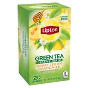 Lipton Decaffeinated Honey Lemon Chamomile Green Tea, 20 count per pack -- 6 per case.