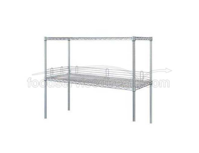 60 inch Shelf Edge for Wesco Chrome-Plated Wire Shelving -- 1 each.