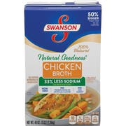 Swansons Natural Goodness Chicken Broth, 48 Ounce -- 8 per case.