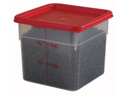 Translucent 8 3/8in X 8 3/8in X 7 1/4in Camsquare Food Storage Containers - 6 Quart -- 6 Each