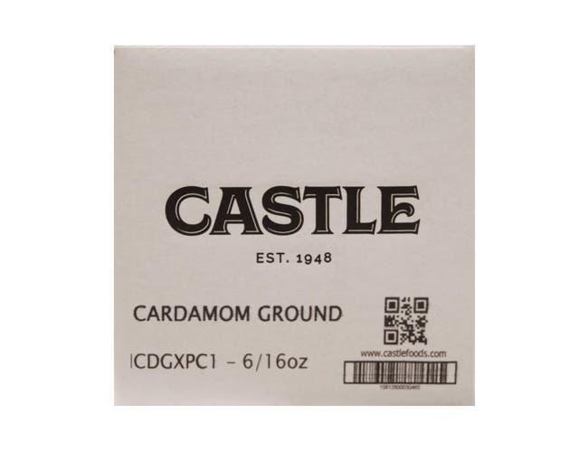 Castle Foods Ground Cardamom, 16 Ounce -- 6 per case