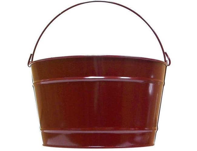 Witt Industries Painted Steel Candy Apple Red Powder Coated Utility Pail, 6 x 5.75 inch -- 12 per case.