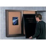 Vinyl - White Open Faced Vinyl LetterBoard Insert Panel with 2 doors. Size: 27 x 46 inch. Depth: 1/2 inch -- 1 each.