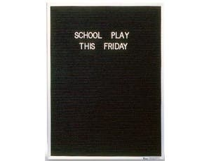 Aluminum Framed Letterboard. Size: 24 inch X 36 inch X 1/2 inch -- 1 each.