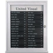 FRM Finish-Satin Anodized 2 Column AD Type Directory with satin anodized aluminium frame. Size: 19 inch X 22 1/2 inch -- 1 each.