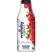 Wallaby Organic Strawberry Whole Milk Kefir, 32 Fluid Ounce -- 6 per case.