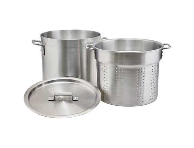 Winco Aluminum Pasta Cooker with Cover, 20 Quart -- 1 each.