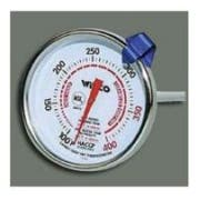 Winco Calibrated Candy and Deep Fry Thermometer, 2 inch Diameter -- 1 each.