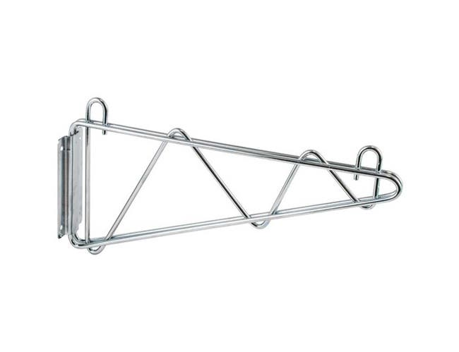 Winco VCB Series Chrome Plated Shelving Wall Mount Bracket, 18 inch Width -- 2 per case.